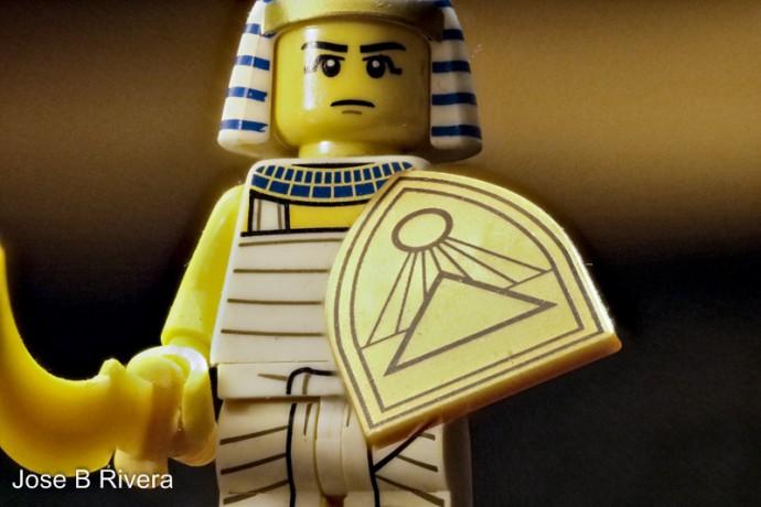 Egyptian Lego Figure as a Macro Photography subject.